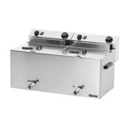 Bartscher - Fritéza elektrická PROFESSIONAL II  s výpustným ventilem - 2 x 10,0 litru