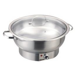 Bartscher - Chafing Dish elektrický, kulatý se sklenìnou poklicí - 3,8 litru